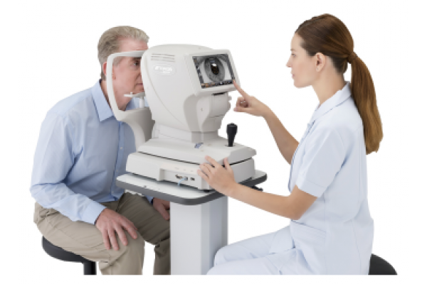 Mark and Olga in eye testing equipment catalog | Acquamodels